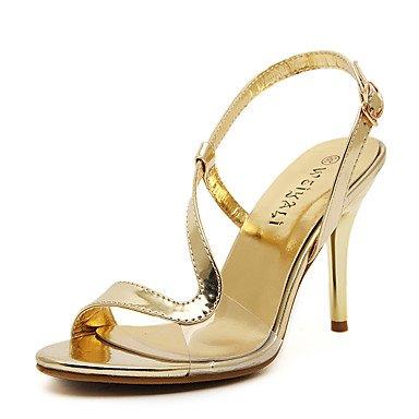LvYuan Da donna-Sandali-Matrimonio Formale Serata e festa-Altro Club Shoes-A stiletto-Finta pelle-Argento Dorato Silver
