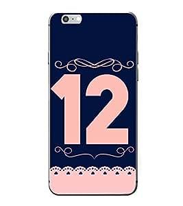 PrintVisa Patterened Number Twelve 12 High Gloss Designer Back Case Cover for Apple iPhone 7 Plus
