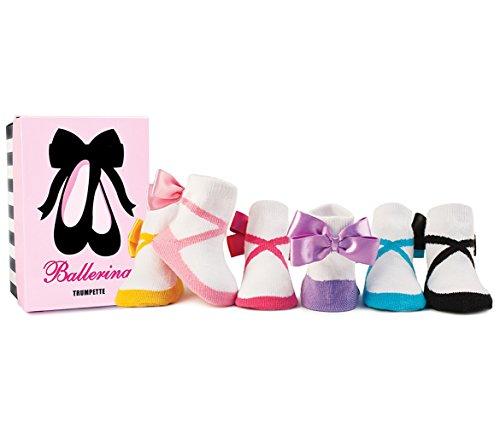 Trumpette Baby-socken (Trumpette Baby-Socken - Ballerina Bow Geschenkset in Box)