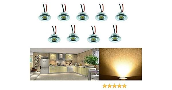 Punto Luce Incasso 1 LED Faretto LED 1 Watt Segnapassi Luce Fredda Esterno 9 Pezzi