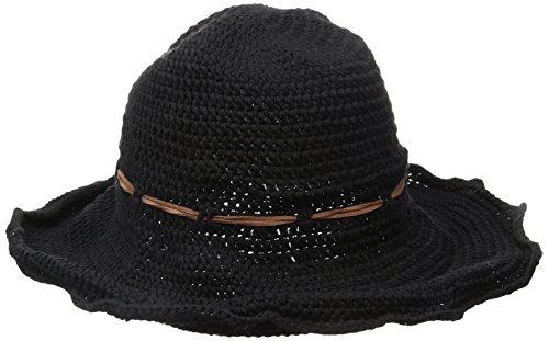 ale-by-alessandra-womens-nikki-retro-crochet-floppy-hat-with-leather-trim-black-one-size