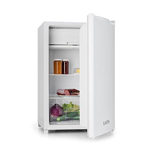 Klarstein Refrigerador Nevera • refrigerador • 120 l de Volumen • 2 x estantes • 3 x Compartimento de Puerta • Compartimento de Hielo DE 12 litros • 67 W • Temperatura Ajustable • 39 dB • Blanco