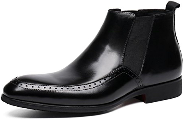 Herren Lederschuhe Herren Lederschuhe High Top Schuhe Wies Business Short Martin Stiefel Herrenschuhe (Farbe :