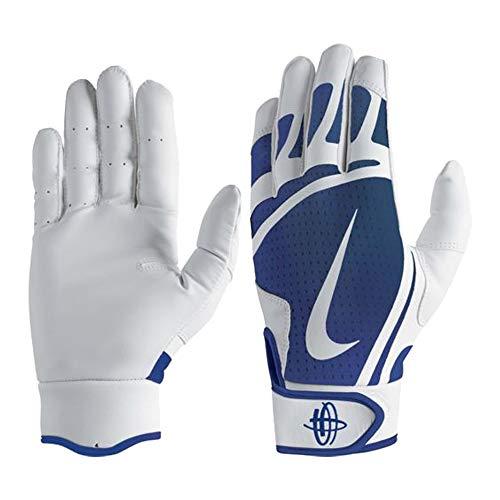 Nike Huarache Edge Baseball Handschuhe, Batting Gloves - royal/weiß Gr. XL