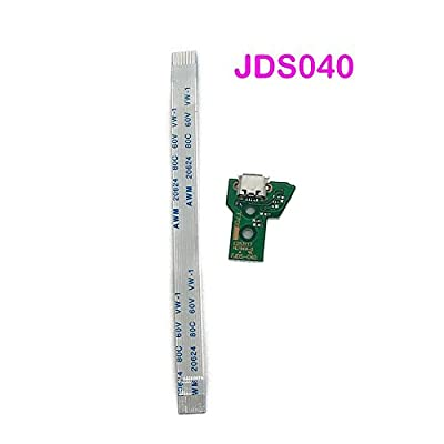 USB Charging Port Charger Socket Board JDS-040 for PS4 Pro Controller with 12 Pin Flex Cable by GGZone
