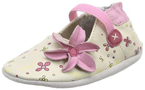 Robeez Flower Power, Chaussures de Naissance bébé fille, Blanc (Blanc Casse), 23/24 EU