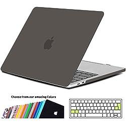 Coque Macbook Pro 13 Pouces 2017,iNeseon Ultra Slim Plastique Protection Caseavec EU Transparent Couvercle du Clavier Housse pour Apple MacBook Pro 13 avec/sans Touch Bar A1706 & A1708 (Gris)