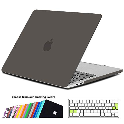 iNeseon MacBook Pro 15 Hülle Case 2018/2017/2016, Hartschale Cover mit EU Touch Bar and Touch ID Modell A1990/A1707, Grau (Mac Book Pro, Untere Abdeckung)