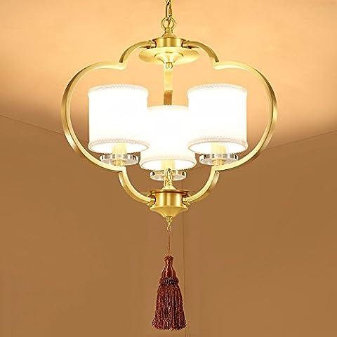 GZLitht Lampes Suspendues Pendentif Cu toutes les lampes lanternes accueillant le restaurant classique Étude Chambre 50*55cm