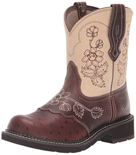 Ariat - Frauen Fatbaby Heritage Viola Fatbaby Western Schuhe, 36 M EU, Copper Ostrich Print/Sand -