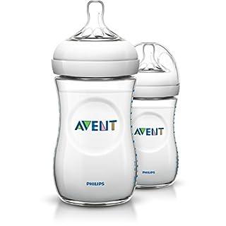 Philips AVENT Natural SCF693/27 Feeding Bottle, 260 ml - Transparent, Pack of 2