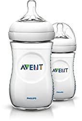 Philips Avent SCF693/27 Naturnah-Flasche, transparent, 2er Pack (2 x 260 ml)