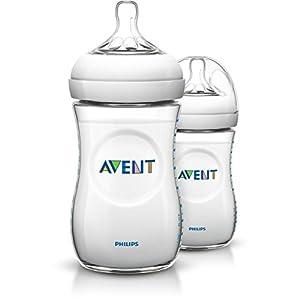 Philips-Avent-SCF69327-Pack-de-2-biberones-tetina-suave-y-flexible-anticlicos-PP-0-BPA-260-ml-color-transparente