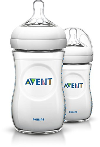 Philips Avent SCF693/27 - Pack de 2 biberones, tetina suave y flexible, anticólicos, PP 0% BPA, 260 ml, color transparente