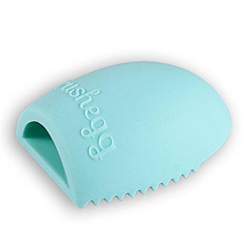 FACILLA® Pinceaux de Maquillage outil de nettoyage Massage Nettoyant doigts Gants en Silicone Vert