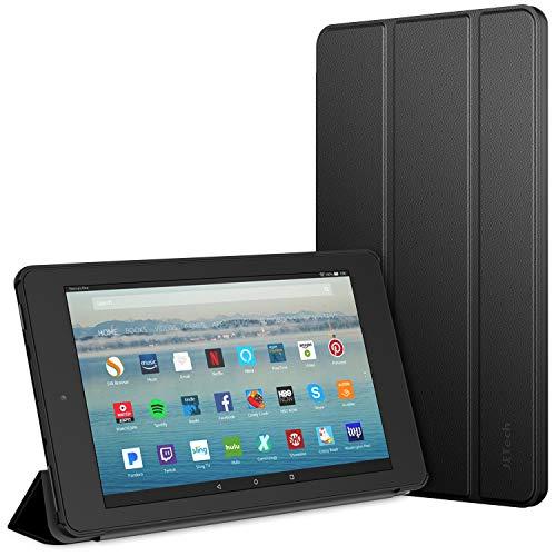 JETech Funda Compatible Amazon Fire 7 Tableta (9ª Generación, Lanzamiento de 2019 Sólo), Smart Cover con Auto-Sueño/Estela, Negro