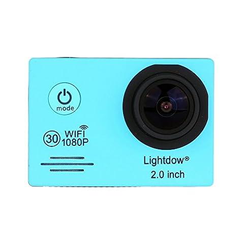 Camera d'action sport Lightdow LD6000 FHD 1080P WiFi Full HD avec accessoires dont une batterie supplémentaire -processeur Novatek NT96655+ écran LCD 2pouces + objectif grand angle 170°