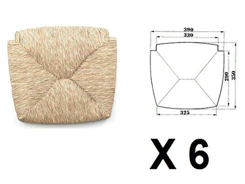 Sedute impagliate (mod. 1212 venezia) ricambi per sedie [set di 6]