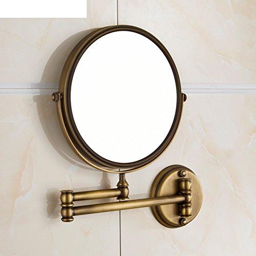 Alle Kupfer Kosmetikspiegel/Bronze Spiegel/Sided Spiegel/Badspiegel Teleskopdrehspiegel-A