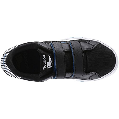 Reebok - Royal Comp Alt Cvs, Scarpe sportive Bambino Multicolore (Negro / Azul / Blanco (Black/Electric Blue/White))