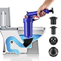 Toilet Plungers High Pressure Drainage Dredge Cleaning Tool Pressure Pump Cleaner for for Bath Bathroom Shower kitchen Clogged Pipe Bathtub Basin