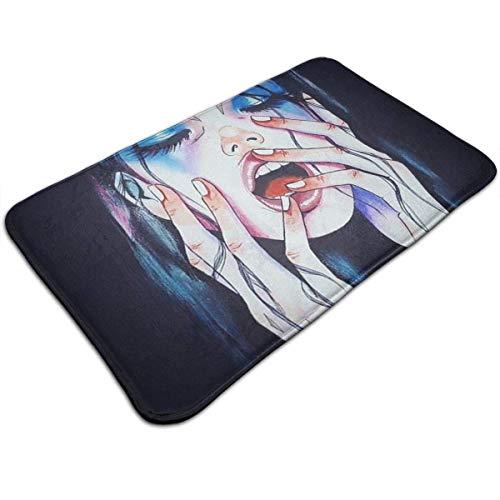 CAP PILLOW HOME Goth Gotik Gothic Melancholy Women Girl Art Welcome Mats Entrance Mat Floor Mat Door...