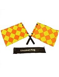 FH - Banderas de árbitro, color naranja y amarillo, completo con bolsa y asa