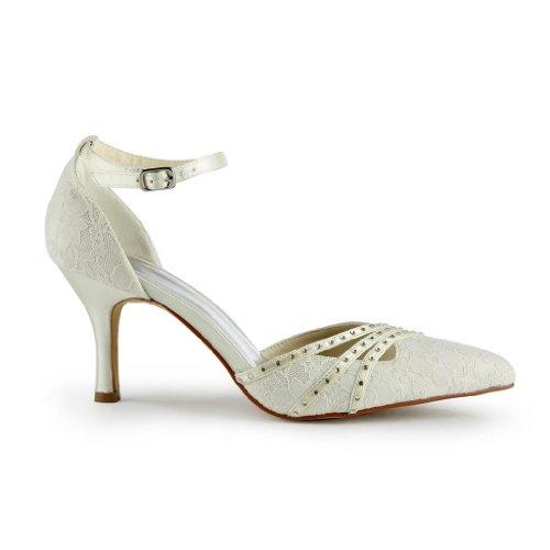Jia Jia Wedding A313 chaussures de mariée mariage Escarpins pour femme Beige
