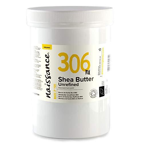 Naissance Sheabutter BIO (Nr. 306) 500g - rein und natürlich, unraffiniert, BIO zertifiziert, handgeknetet, vegan & parfümfrei - ethisch und nachhaltig hergestellt aus Ghana -