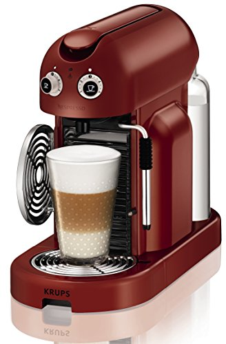 DeLonghi Nespresso Gran Maestria macchina per caffè espresso, Colore Rosso