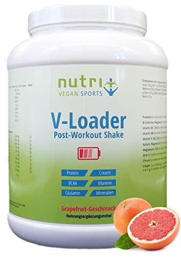 POST WORKOUT Shake V LOADER   Muskelaufbau und Bodybuilding   1500g Grapefruit Pulver   Maltodextrin   Protein-Pulver   BCAA   Creatin-Monohydrat   L-Glutamin   Vegan Supplement