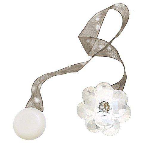 Chen Rui TM Magnetische Vorhang Raffhalter Vorhang Clips Seil Halter Schnallen Vorhang Binder Gardinenhalter (Weiß)