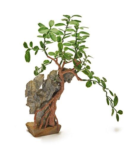 """Mascota verde pistacho–hermoso realista acuario planta con base 11""""/28cm de alto. Nuevo para 2017."""