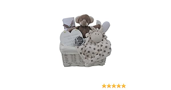 Gorgeous Silver Themed Elli /& Raff New Baby Gift Hamper//Basket Baby Shower Gift with FAST /& FREE UK Delivery!