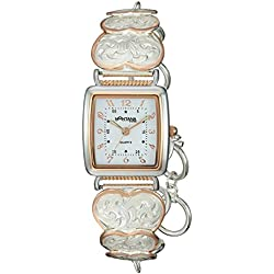 Montana Silversmiths Women's 'Time' Quartz Stainless Steel and Alloy Dress Watch, Color:Two Tone (Model: WCH79RG)
