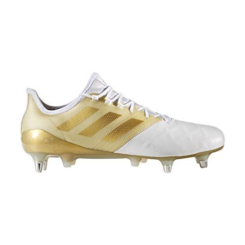 adidas Kakari Light SG, Scarpe da Rugby Uomo blanc/or métalisé/or métalisé