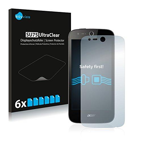 Savvies Schutzfolie kompatibel mit Acer Liquid M330 (6 Stück) - ultraklare Bildschirmschutz-Folie