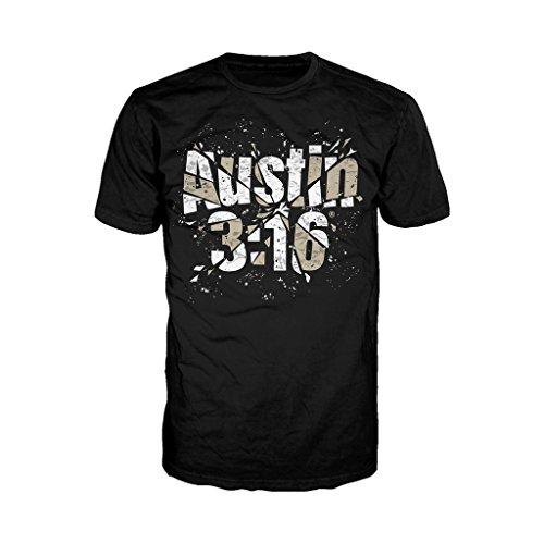 WWE da uomo Stone Cold Steve Austin 316vetro maglietta, colore: nero Black Small