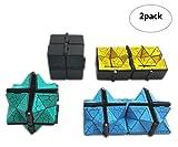 Cubo Infinito Con Superficie De Grieta Esmerilada 2 Pcs En Un Paquete Cubo Magico Puzzle Infinity Cube Anti Estrés Finger Toy Stress Reliefer Matando Tiempo Juguete Adultos Colores Aleatorios