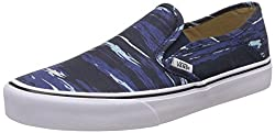 Vans Mens Slip-On SF Desert Floral and Black Loafers and Moccasins - 8 UK/India (42 EU)