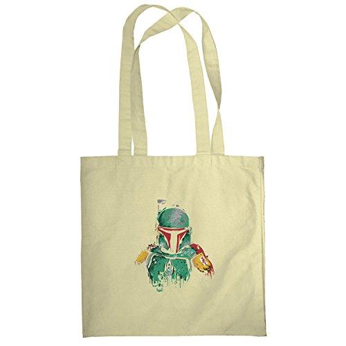 Texlab–Boba Splash Painting–sacchetto di stoffa Naturale