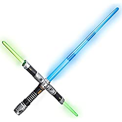 Goods & Gadgets Kit sabre laser maître Jedi avec son et lumière Taille XXL