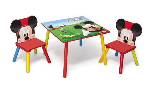 Disney - set tavolo con 2 sedie per bambini mickey mouse