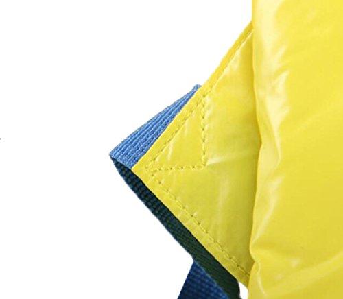 FZHLY Signore Impermeabile Spalla Chiaro Sacchetto Collegio Coreano Sacchetto Di Scuola,Yellow Lightblue