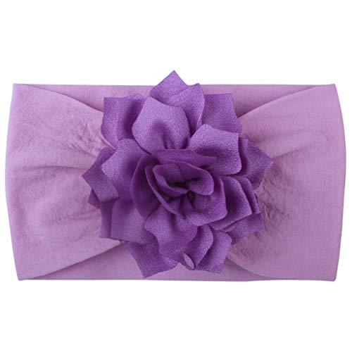 erthome Mädchen-Baby-Kleinkind-Turban-festes Stirnband-Haarband-Blumen-Zusatz-Kopfbedeckung -