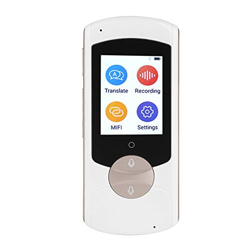 ASHATA Smart Sprachübersetzer, Portable WiFi 41 Sprachen Echtzeit Übersetzung Smart Voice Übersetzer,Tragbar Reiseübersetzer Gerät Translator für Lernen Reisen Business usw.(Weiß)