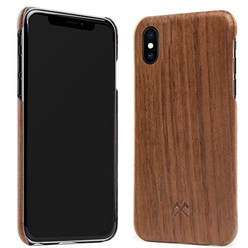Woodcessories Hülle, Case kompatibel mit iPhone X, Xs aus Echtholz, EcoCase Slim (Walnuss)