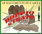 18 SACCHI SACCHETTI IN CARTA FILTRANTE ASPIRAPOLVERE FOLLETTO VORWERK 130 131