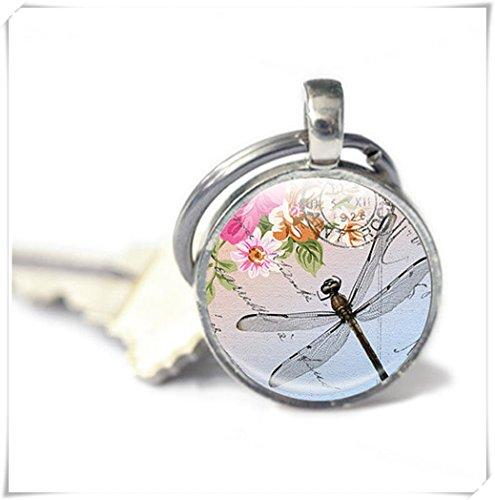 Leonid Meteor Dusche Schlüsselanhänger-Libelle Schlüsselanhänger-Geschenk für Ihre Libelle Schlüsselanhänger, Libelle Bild (Bild Globe)