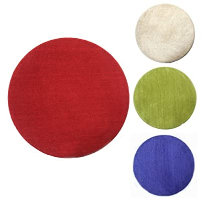 Homescapes Round Rugs Plain 100% Cotton Circular Childrens or Interior rug - low-cost UK light store.